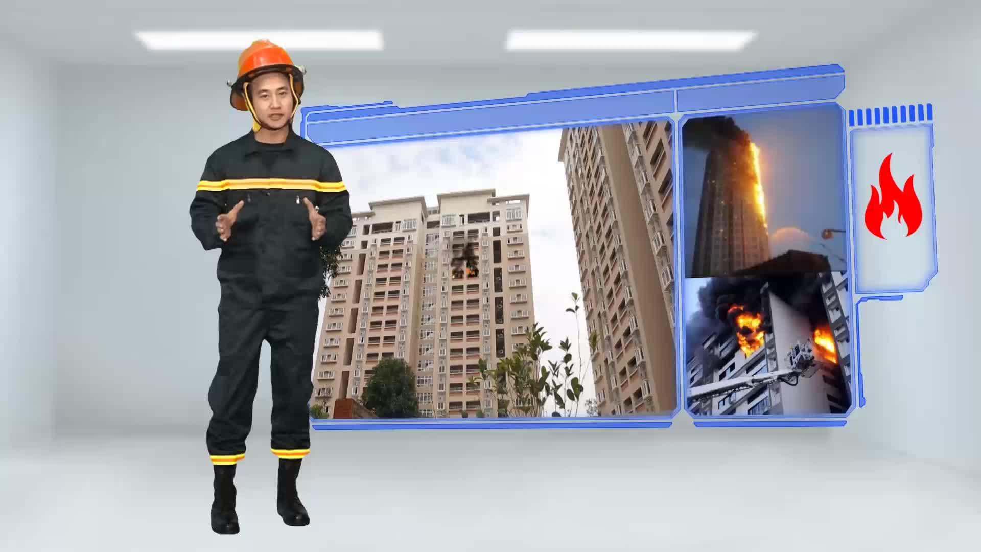 Cách thoát hiểm khi xảy ra cháy ở chung cư, nhà cao tầng.