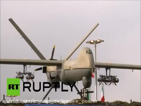 Cận cảnh máy bay không người lái vũ trang Shahed 129 của Iran