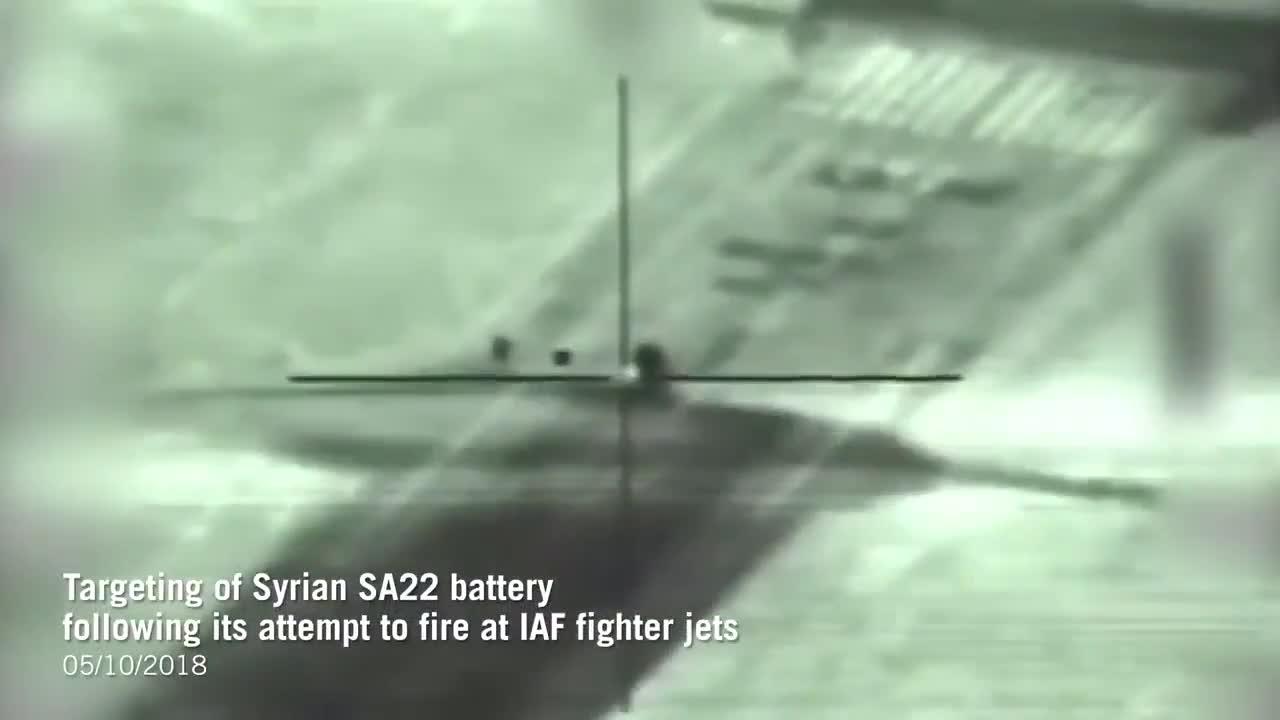 Khoảng khắc tổ hợp tên lửa - pháo phòng không Pantsir-S1 của Quân đội Syria bị Israel tiêu diệt