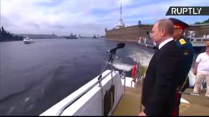 Buổi lễ duyệt binh hải quân được Nga tổ chức tại Saint Petersburg hồi năm 2017