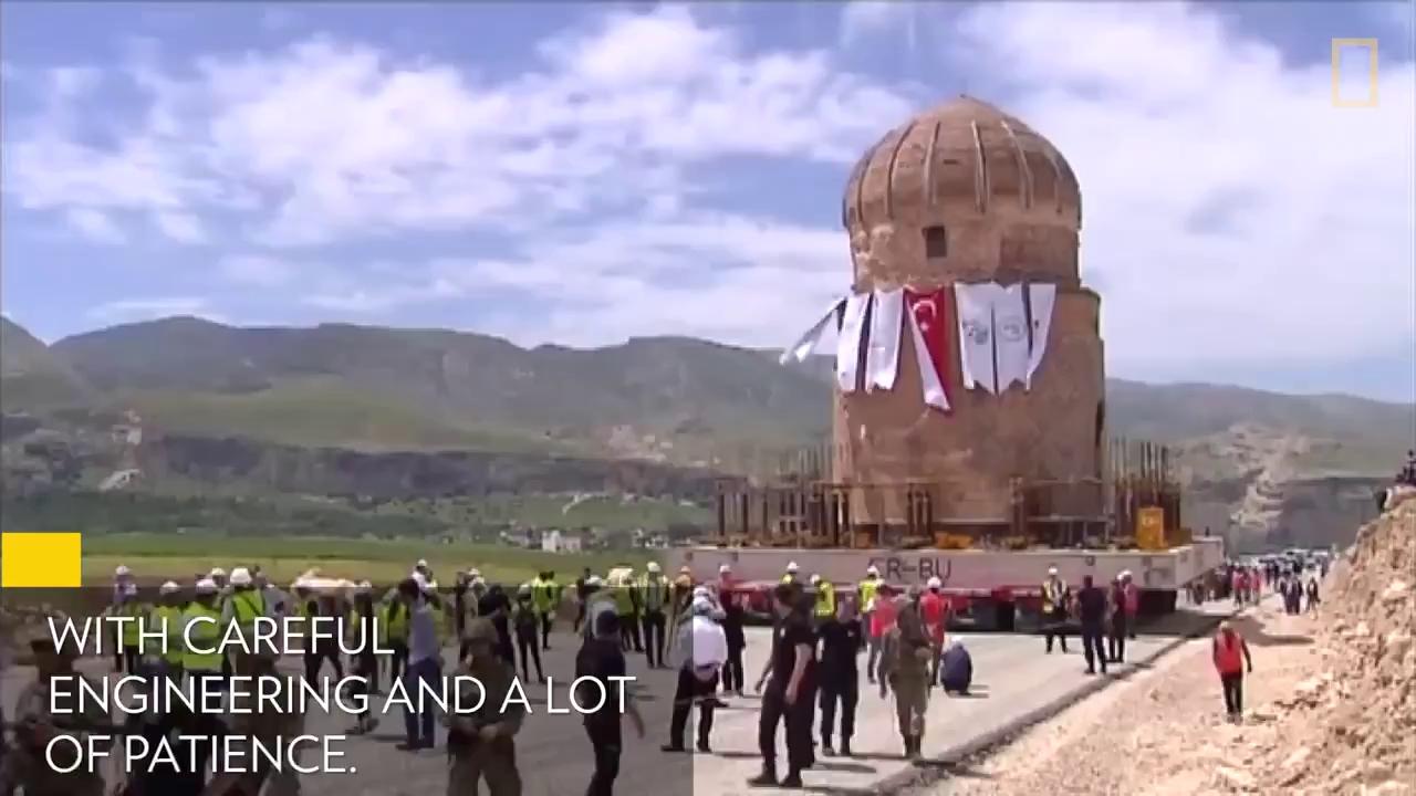 Cách người Thổ Nhĩ Kỳ di chuyển lăng mộ cổ nặng 1100 tấn
