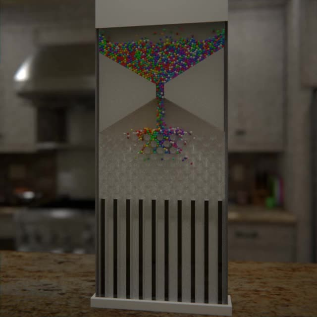 Chiếc máy có thể phân loại hàng trăm hạt nhựa theo màu sắc. Nguồn: Reddit