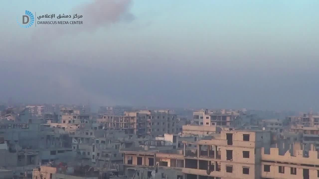 Không quân Syria giội bom oanh tạc khủng bố HTS tại Đông Ghouta