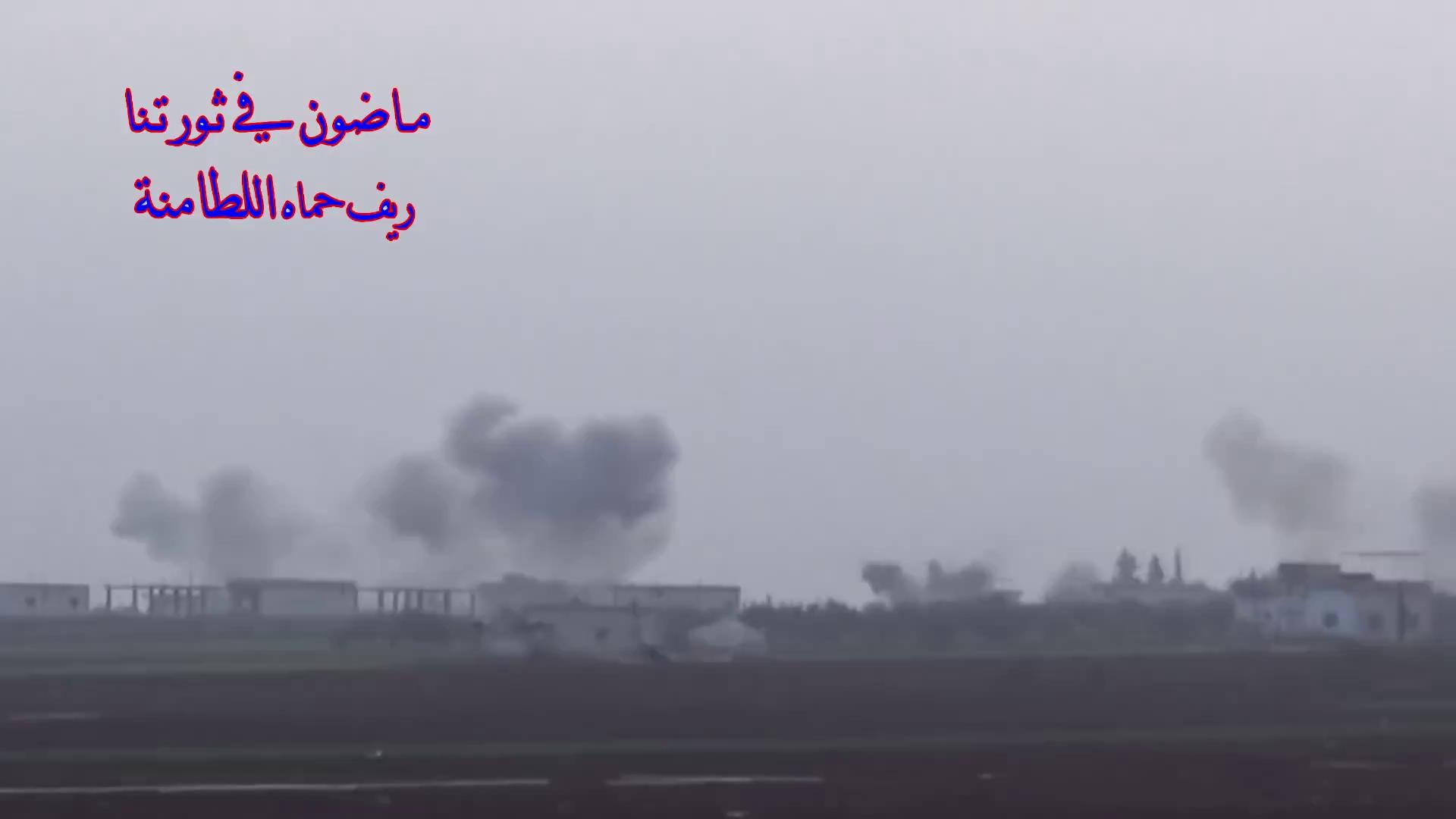 Pháo binh, tên lửa Syria pháo kích dữ dội vào lực lượng Hồi giáo cực đoan trong thị trấn Al-Latamenah