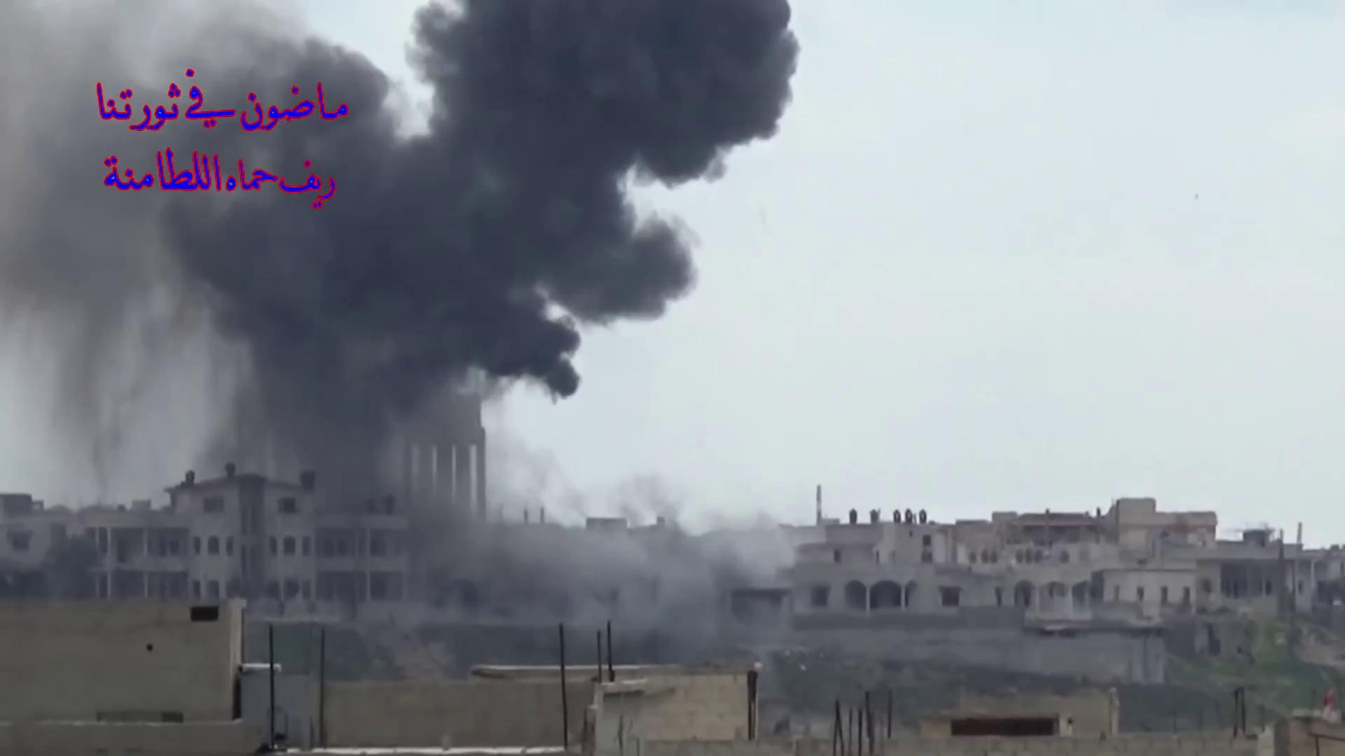 KQ Nga không kích thị trấn Al-Latamenah bằng vũ khí xuyên phá hầm ngầm