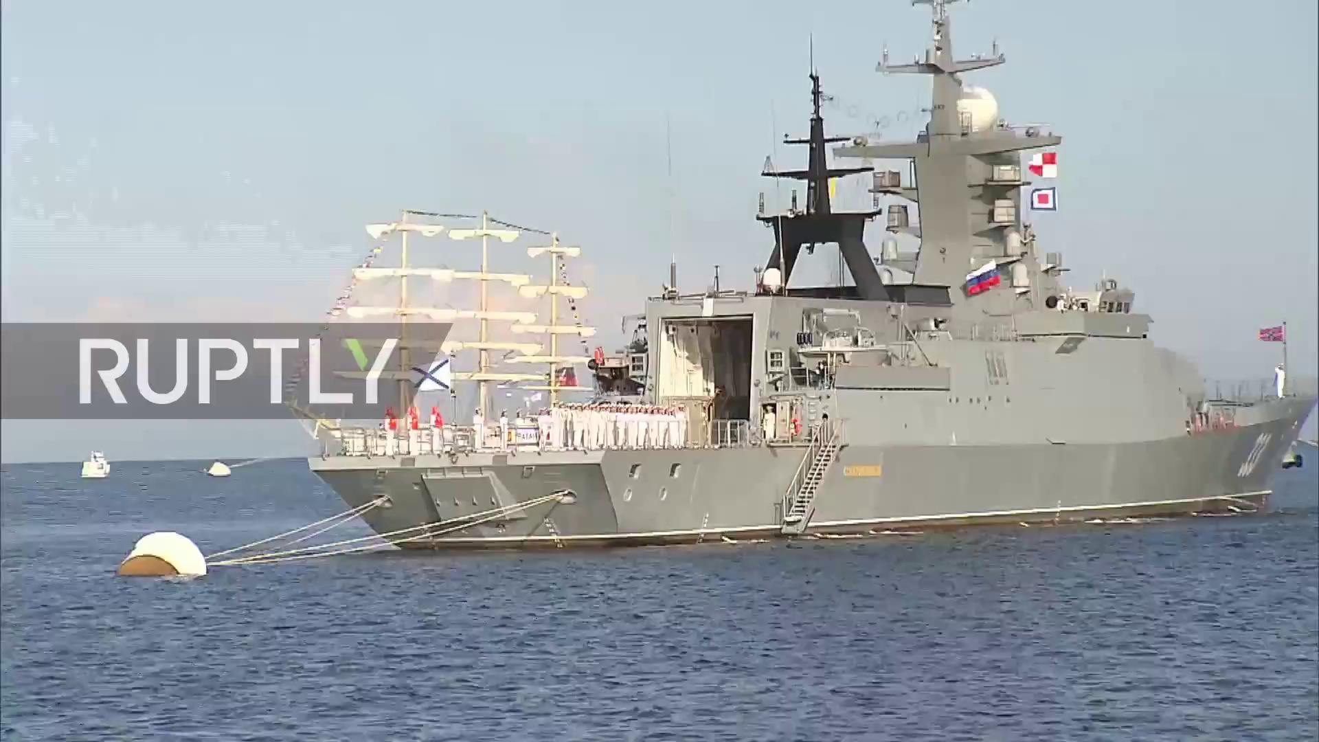 Tổng thống Nga Vladimir Putin thị sát tàu hộ vệ Sovershenny