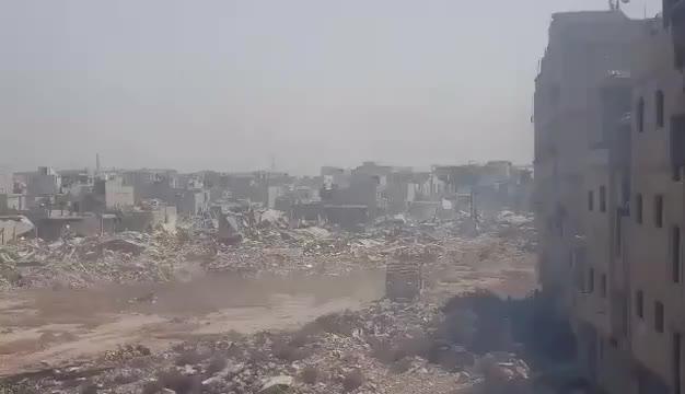Toàn cảnh chiến tuyến một góc của chiến trường khu vực Trại Yarmouk