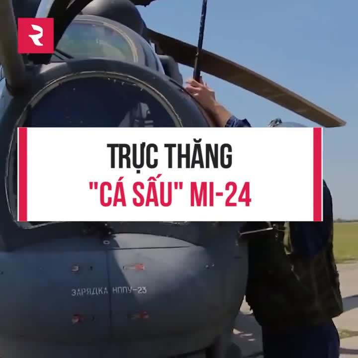 """Trực thăng """"Cá Sấu"""" Mi-24 của Nga"""