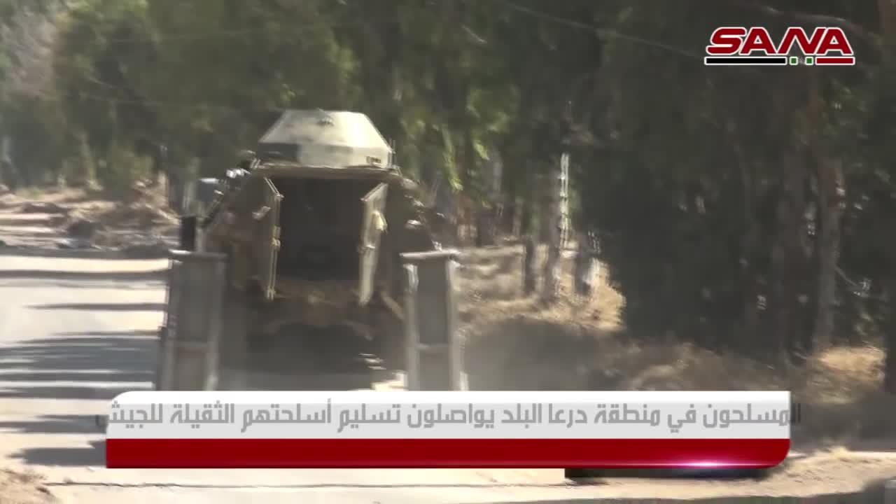 Quân đội Syria thu giữ vũ khí trang bị của lực lượng Hồi giáo cực đoan ở Daraa.