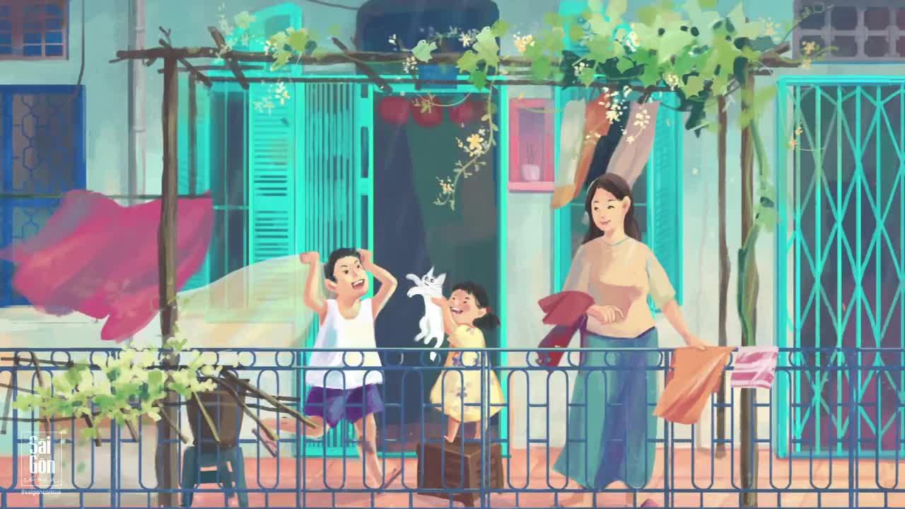 Là những lúc vừa nghe tiếng mưa rơi trên mái nhà đã vội vã lấy đồ phơi ở ban công cùng mẹ.
