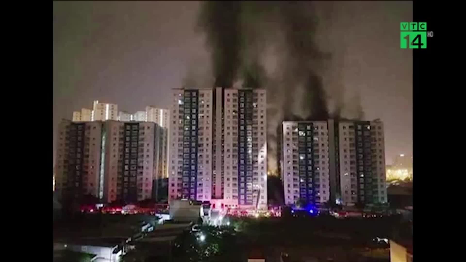 Cháy chung cư cao cấp ở Sài Gòn, 13 người tử vong. (nguồn: VTC14)