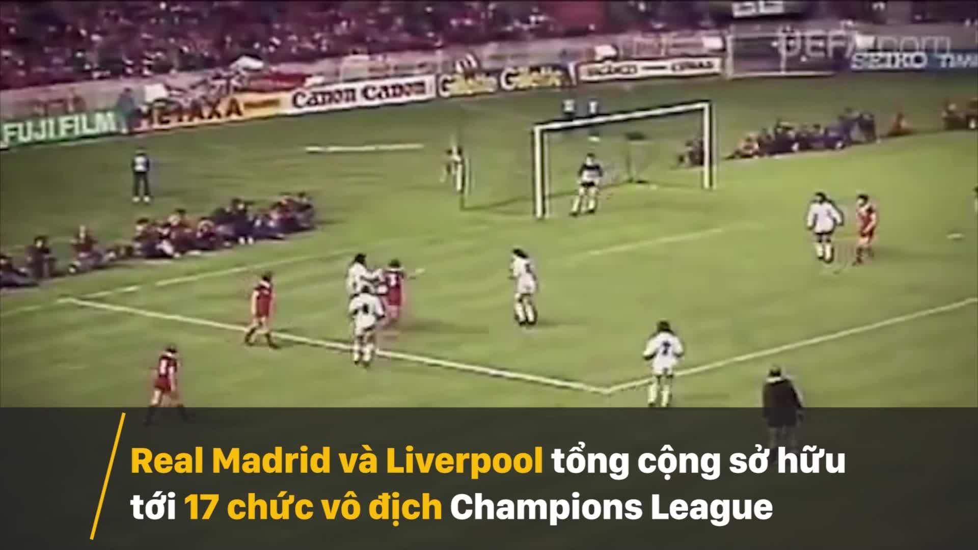 Lịch sử đối đầu giữa Real Madrid và Liverpool