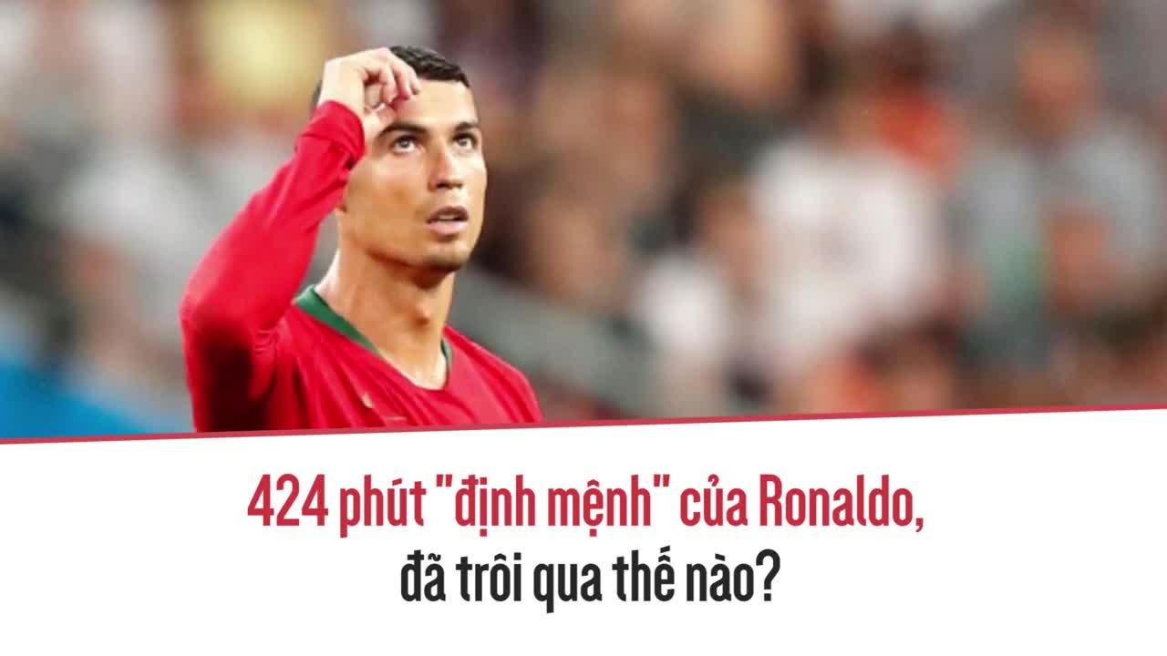 """424 phút """"định mệnh"""" của Ronaldo đã trôi qua thế nào?"""