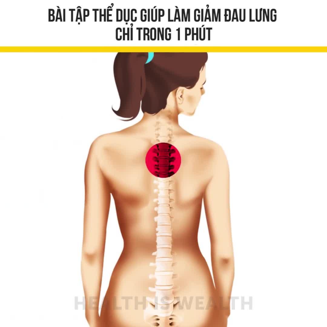 Bài tập thể dục giúp làm giảm đau lưng chỉ trong 1 phút