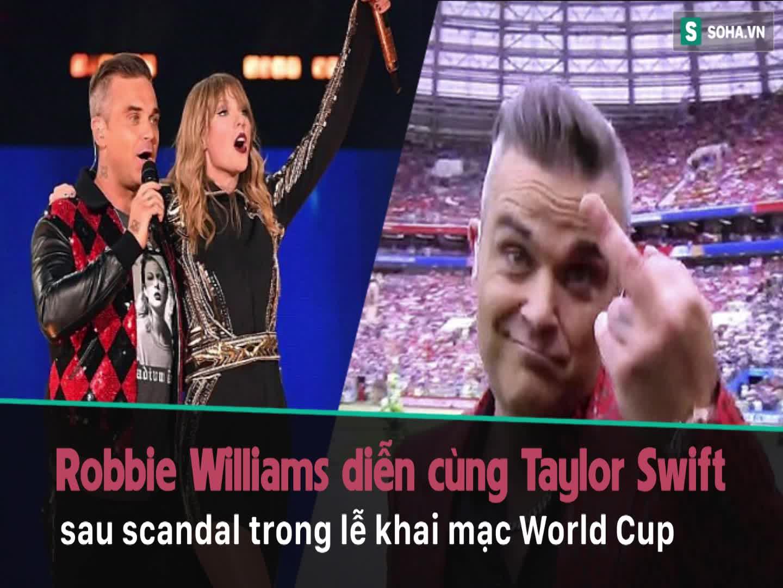 Sau tin đồn bị mafia Nga truy lùng, Robbie Williams bất ngờ xuất hiện cùng Taylor Swift