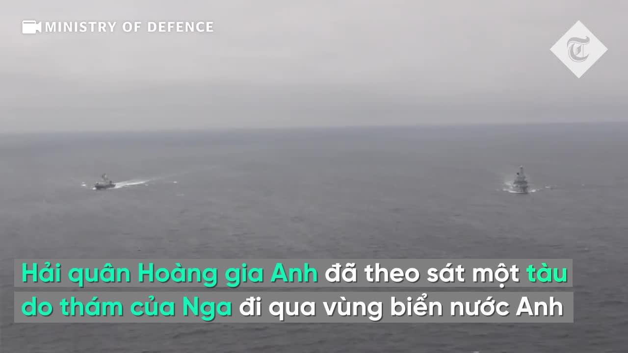 """Hải quân Hoàng gia Anh """"hộ tống"""" tàu do thám Nga qua Eo biển Manche"""