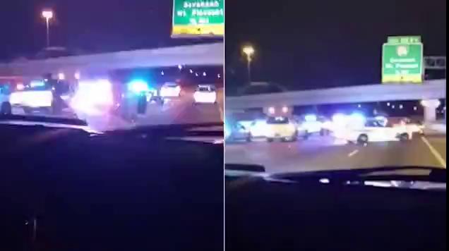 Người đàn ông bị 20 xe cảnh sát rượt đuổi.