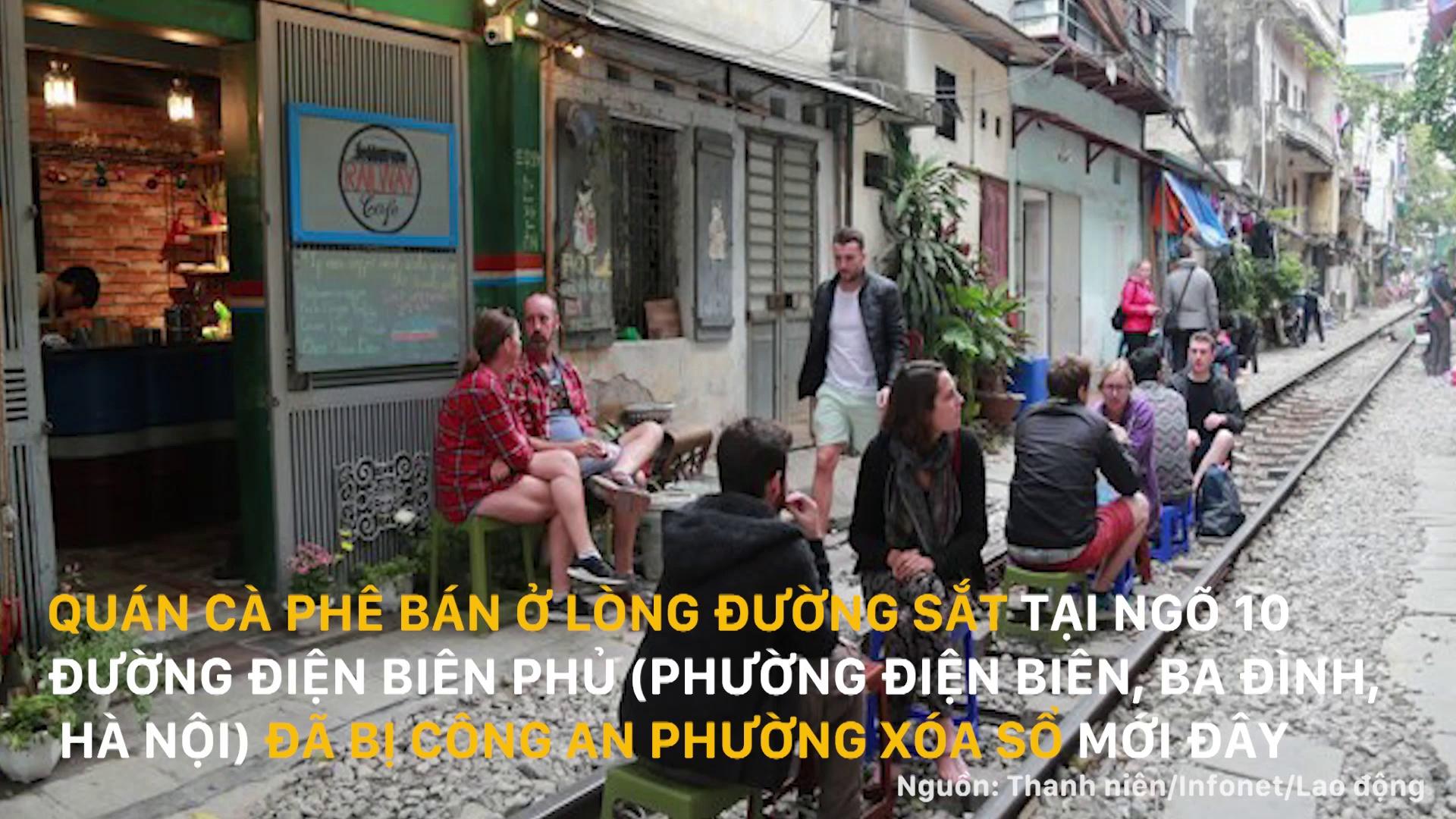 Quán cà phê đường tàu ở Hà Nội gây xôn xao