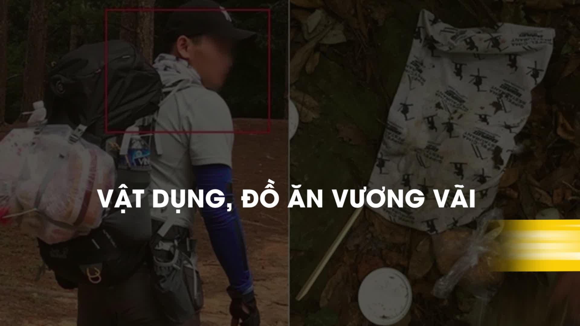 Vật dụng, đồ ăn vương vãi giúp xác định vị trí phượt thủ mất tích ở Tà Năng - Phan Dũng