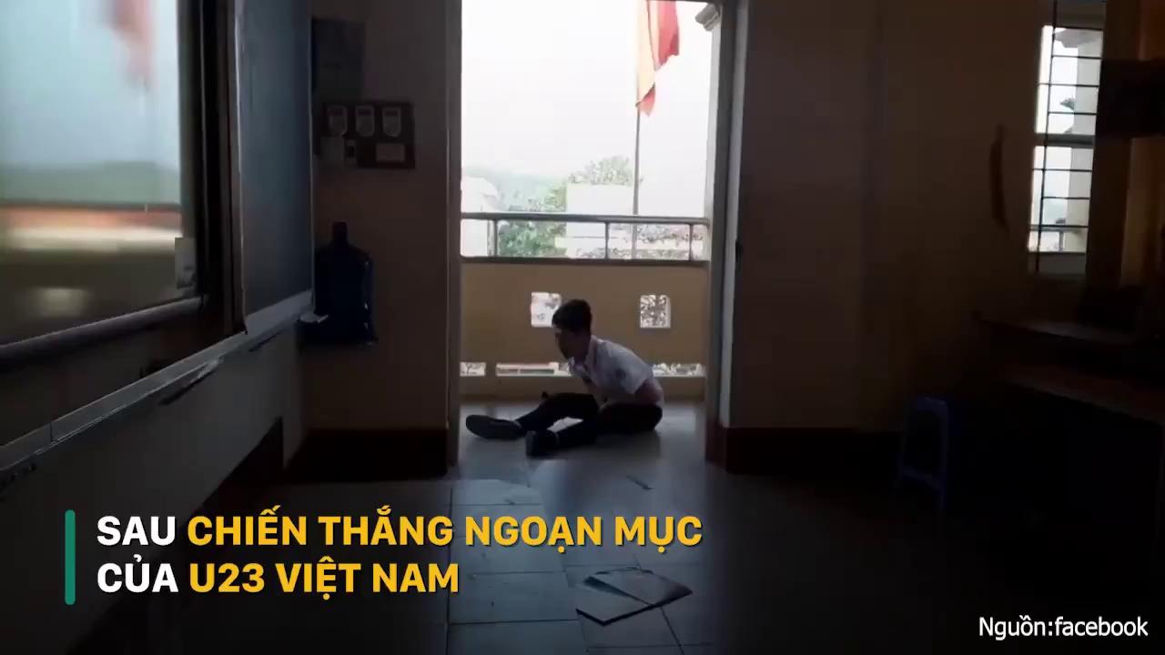Toàn cảnh ăn mừng sau chiến thắng ngoạn mục của U23 Việt Nam