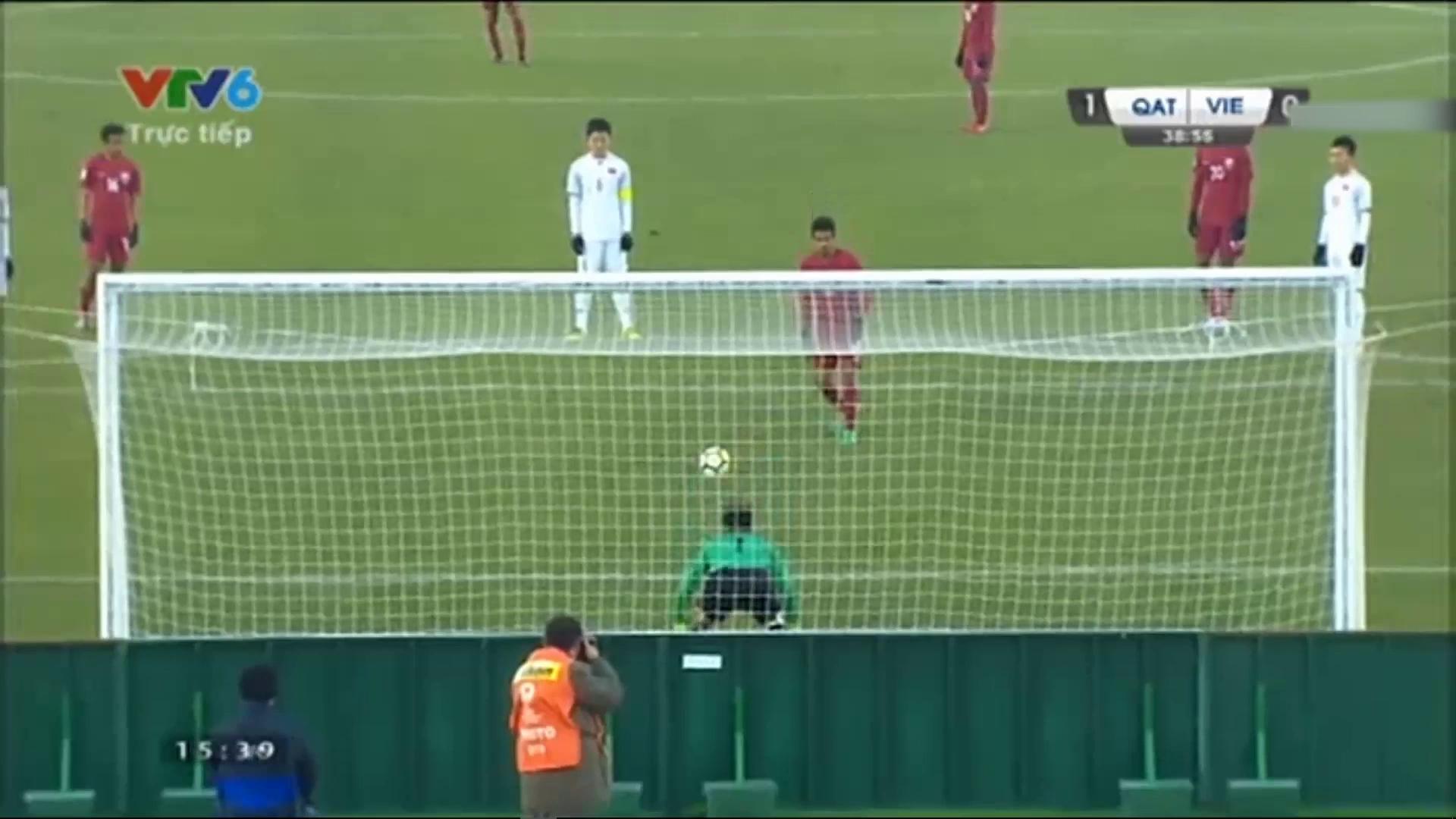 Bán kết U23 châu Á 2018: U23 Việt Nam 2-2 U23 Qatar (luân lưu 4-3)