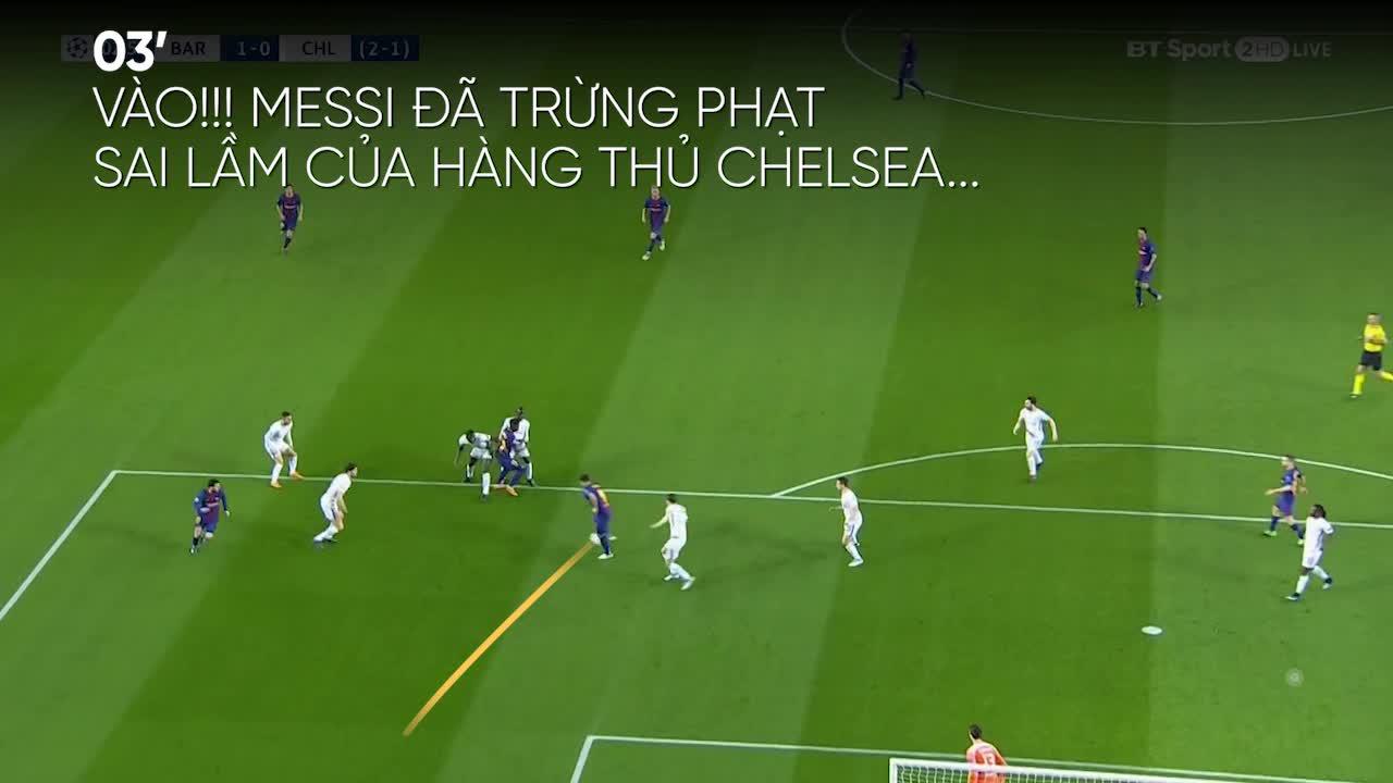 Vòng 1/8 Champions League: Barcelona 3-0 Chelsea
