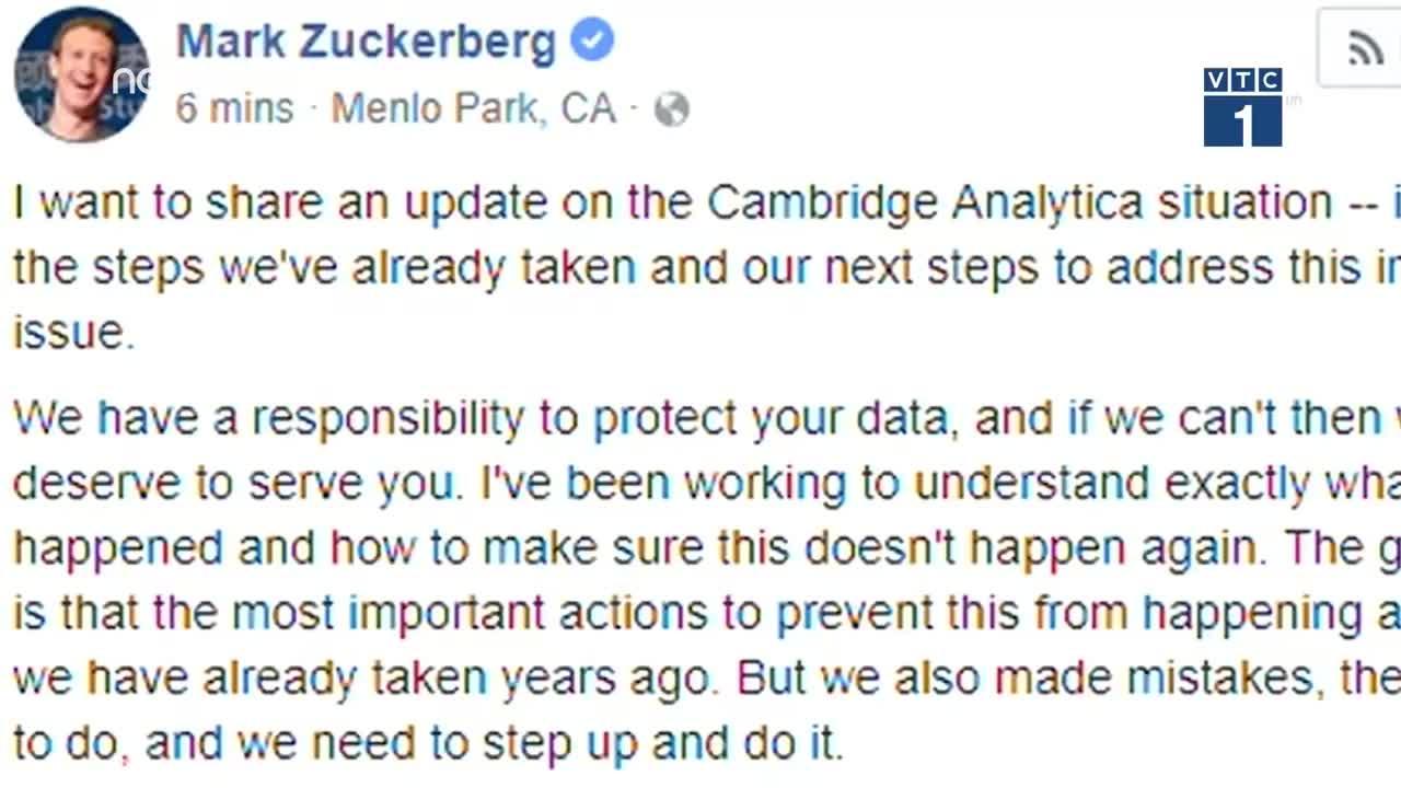 Scandal của Facebook: Mark Zuckerberg thừa nhận sai lầm