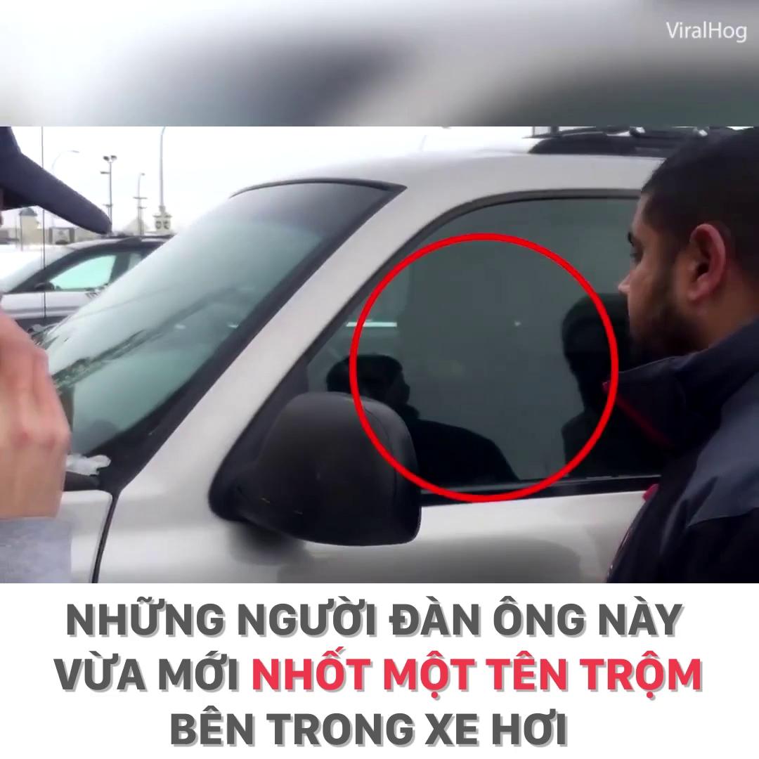 Trộm đồ trong xe hơi, tên trộm nhận cái kết đắng.