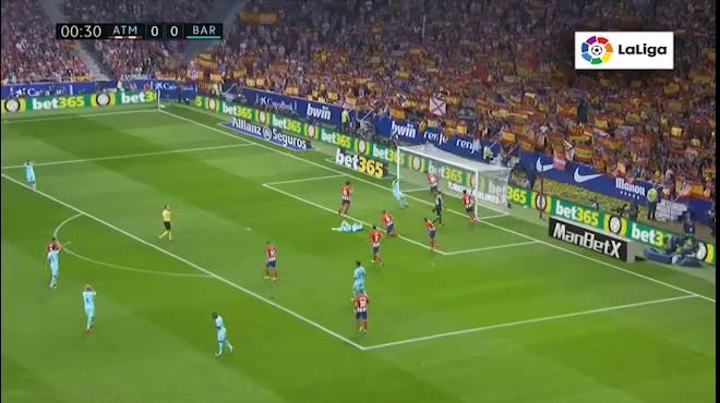 Video Messi cùng Barcelona đối đầu Atletico Madrid ở vòng 8 La Liga