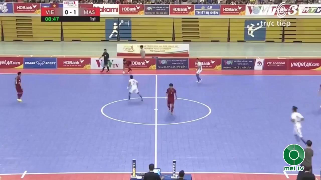 Bán kết futsal Đông Nam Á 2017: Việt Nam 1-5 Malaysia