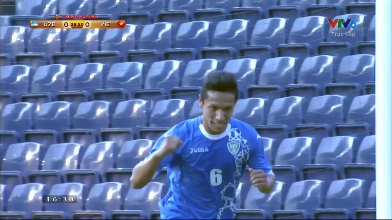 Vòng bảng M150 Cup: U23 Việt Nam 1-2 U23 Uzbekistan