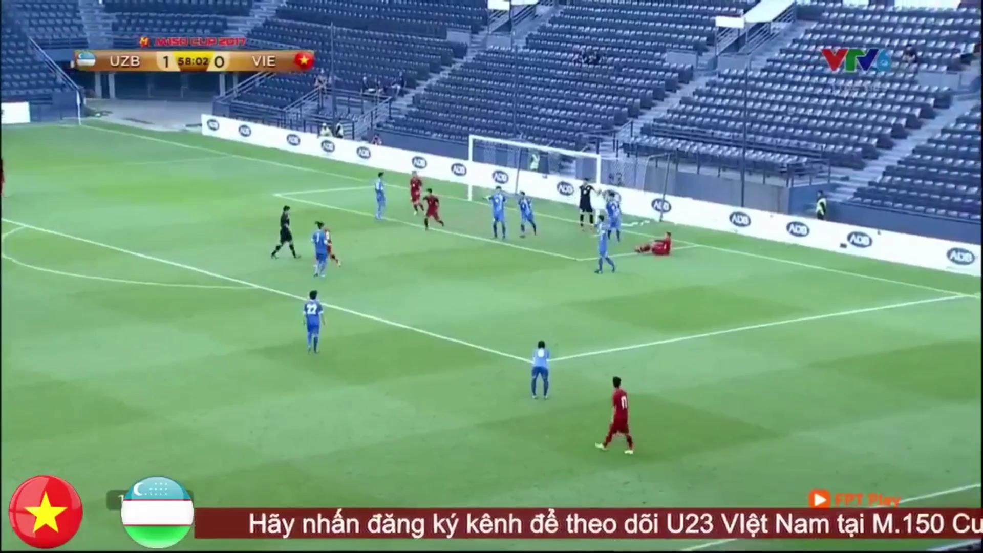 Công Phượng đá penalty thành bàn trước U23 Uzbekistan