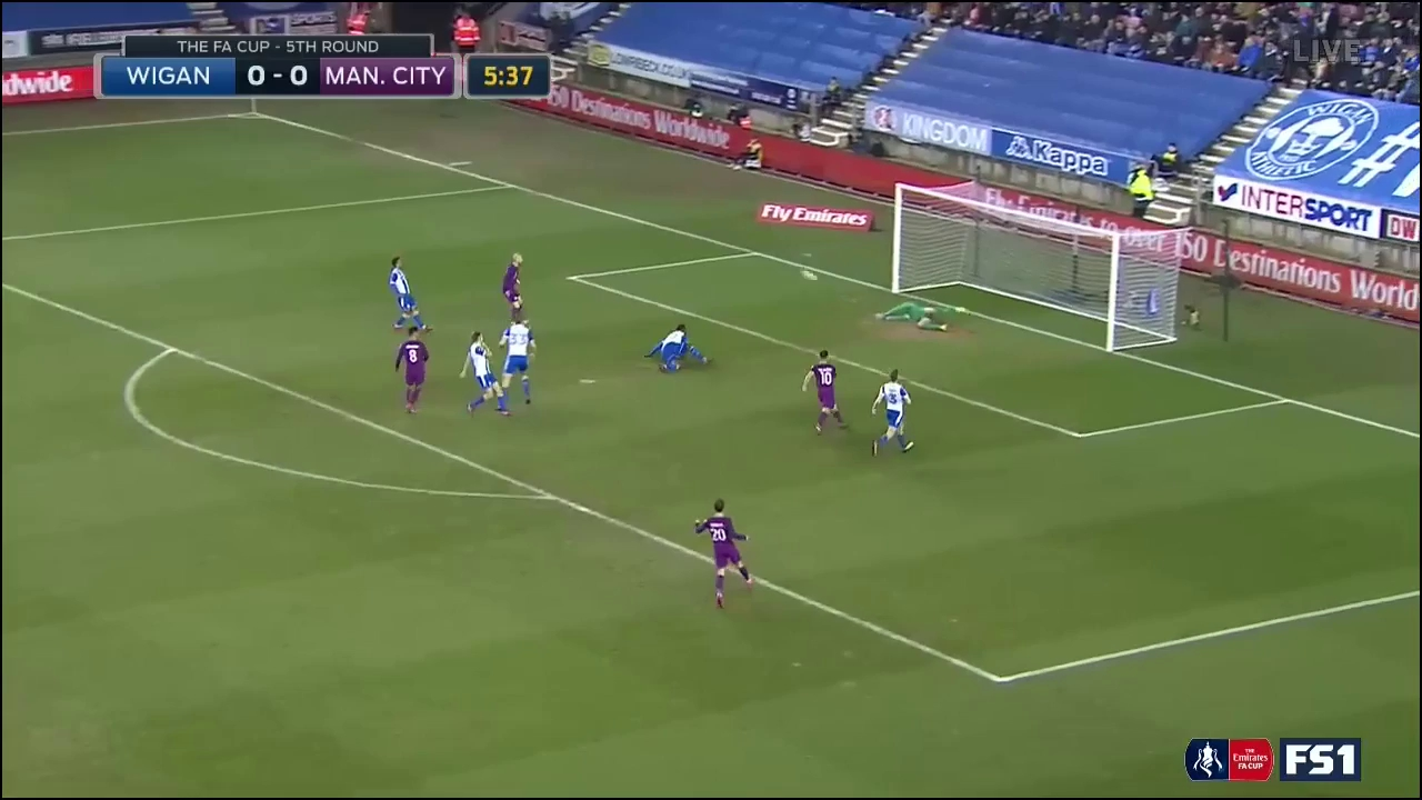 Vòng 5 FA Cup: Wigan 1-0 Man City