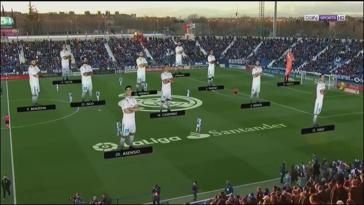 Vòng 24 La Liga: Leganes 1-3 Real Madrid