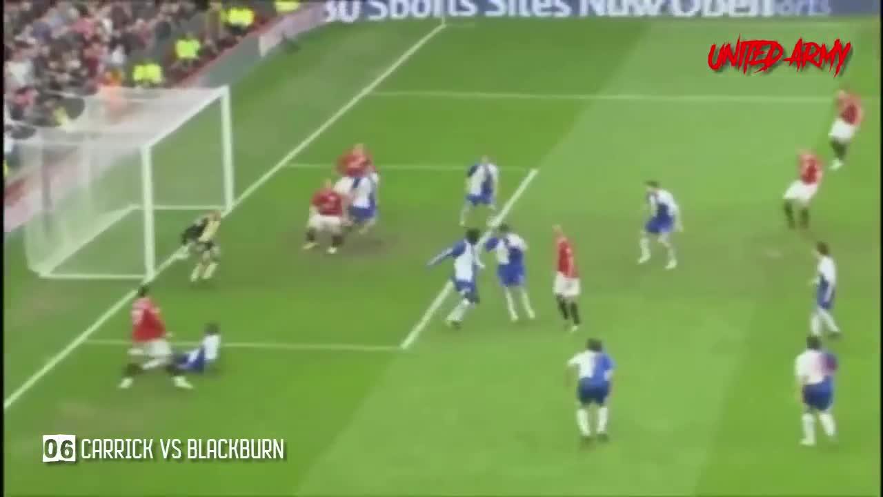 Những bàn thắng và kiến tạo của Carrick cho Man United