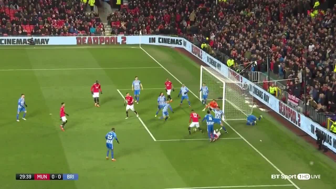 Video bàn thắng & highlights trận M.U 2-0 Brighton