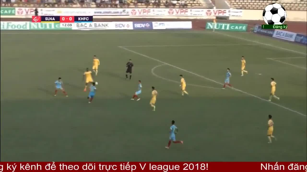 Vòng 2 V.League: SLNA 0-1 Sanna Khánh Hòa