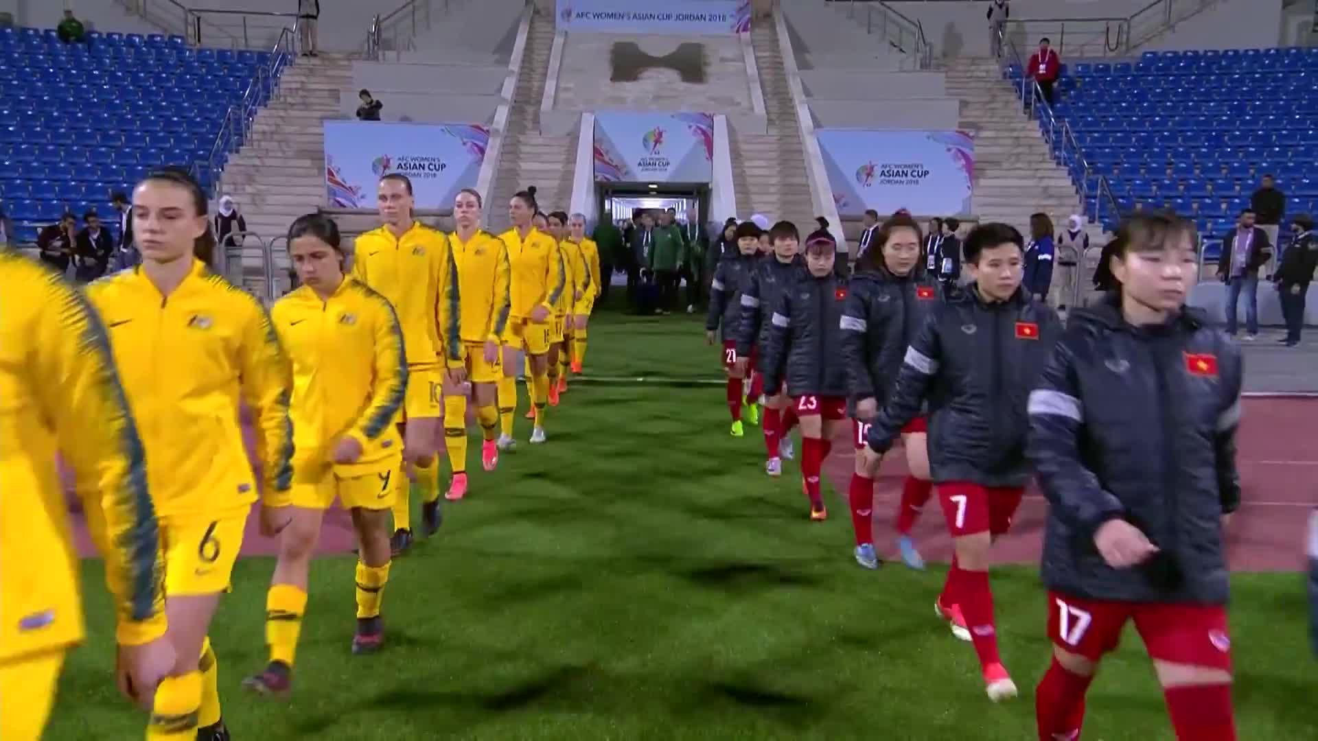 Vòng bảng Asian Cup nữ 2018: Việt Nam 0-8 Australia