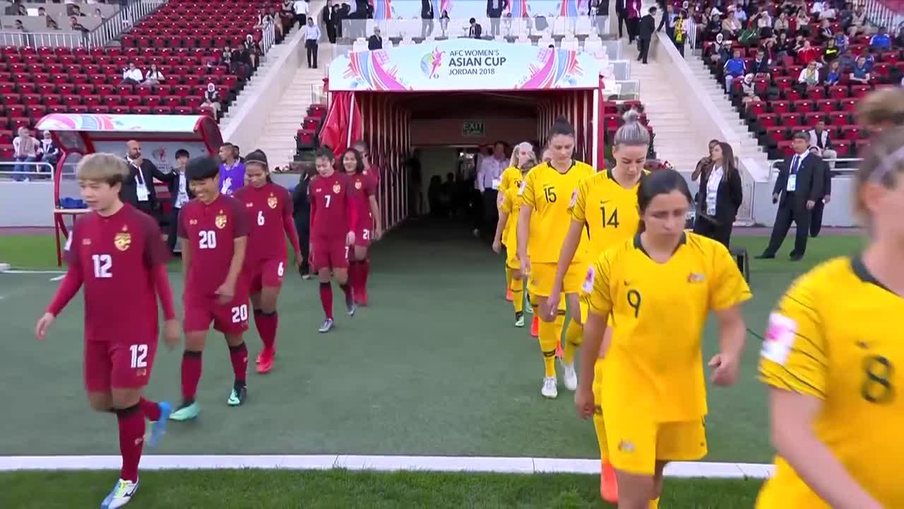 Bán kết Asian Cup nữ 2018: Thái Lan 2-2 Australia (pen: 1-3)