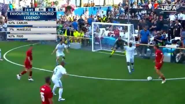 Huyền thoại Real 9-3 Huyền thoại Liverpool (3 bàn thắng cuối của Real)