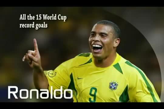 15 bàn thắng của Ronaldo béo tại các kỳ World Cup