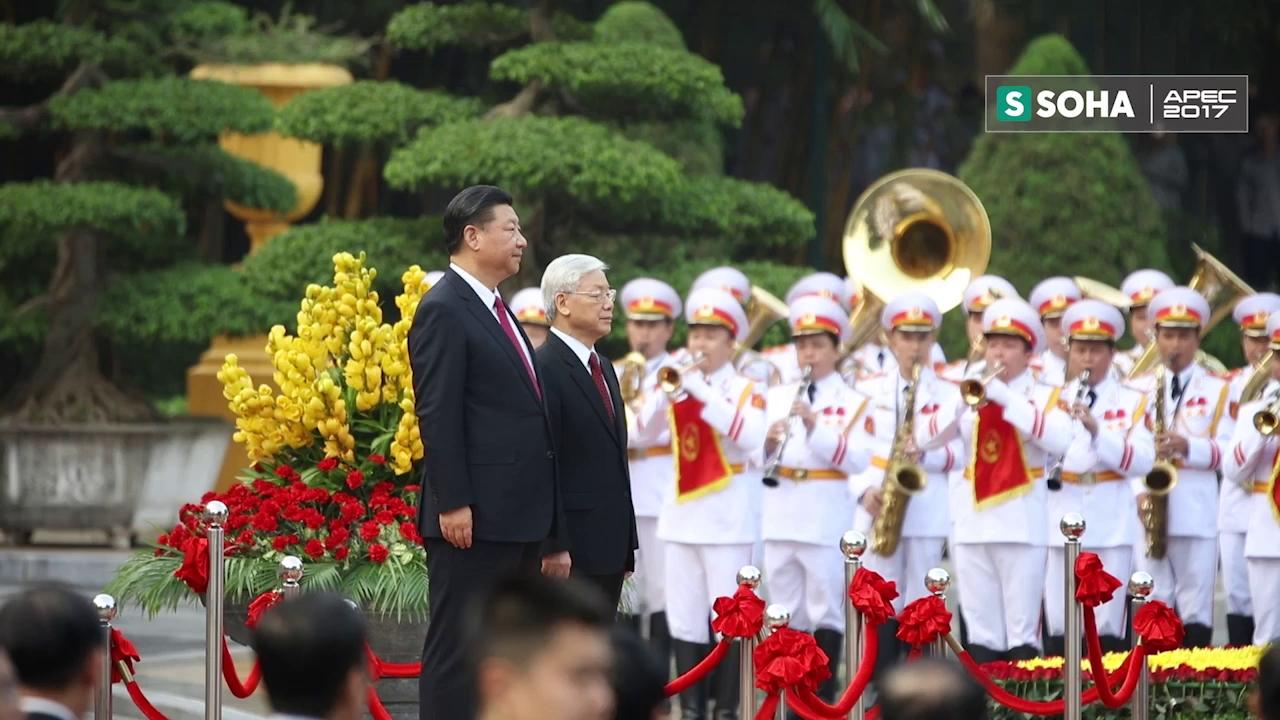 Lễ đón chính thức Tổng bí thư, Chủ tịch Trung Quốc Tập Cận Bình chiều 12/11/2017