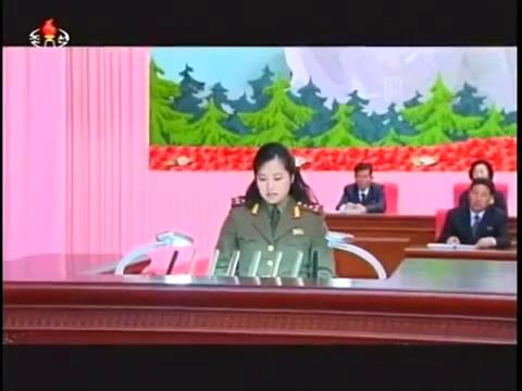 Bà Hyon Song-wol phát biểu trong một hội nghị hồi tháng 5/2014, sau khi có tin đồn bà bị xử tử.
