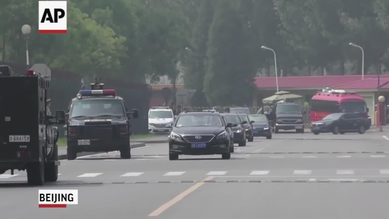 Đoàn xe hộ tống lãnh đạo Triều Tiên Kim Jong-un tại Bắc Kinh, Trung Quốc