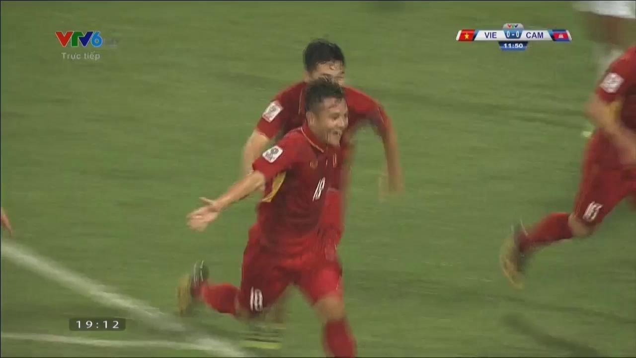 Vòng loại Asian Cup 2019: Việt Nam 5-0 Campuchia