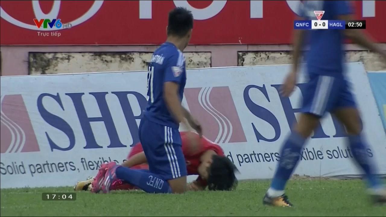 Vòng 22 V-League 2017: Quảng Nam 1-1 HAGL