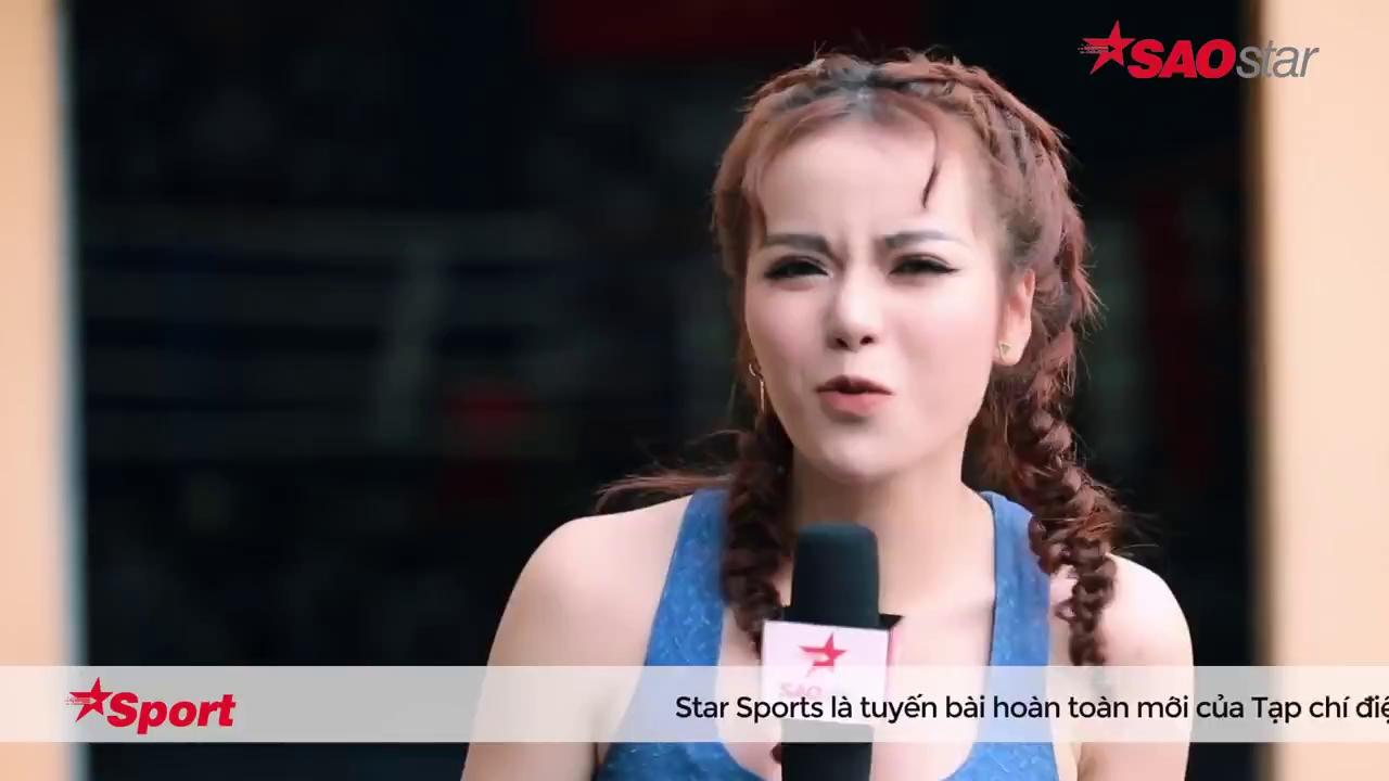 Ca sĩ Duy Mạnh phô diễn liên hoàn cước trên sàn Muay Thái