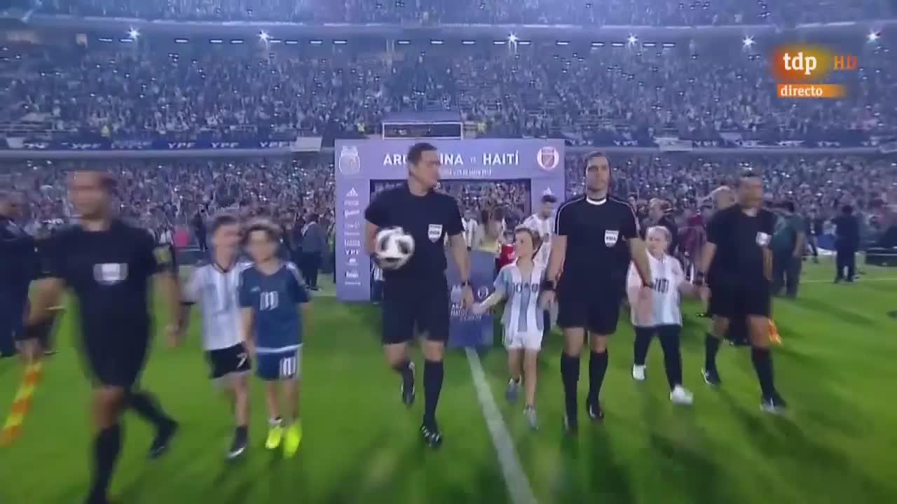 Giao hữu: Argentina 4-0 Haiti