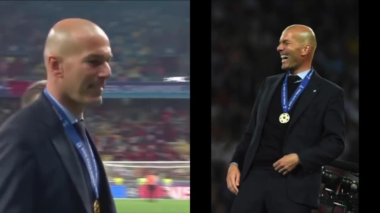 Những khoảnh khắc huy hoàng cùng gia đình của Zidane trên bục vinh quang Champions League