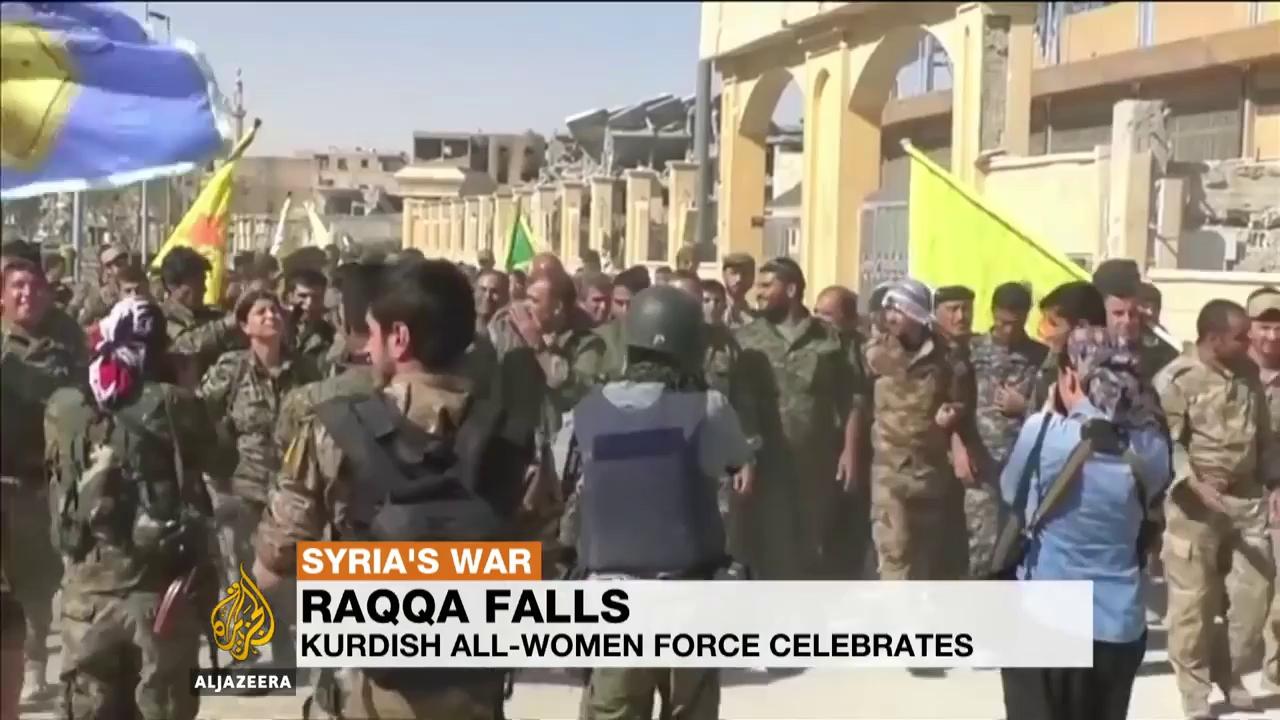 Thổ Nhĩ Kỳ lo ngại tầm ảnh hưởng gia tăng của người Kurd sau khi SDF chiếm được Raqqa. Nguồn: Al Jazeera